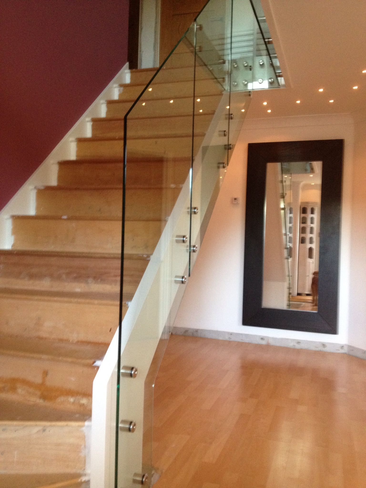 Toughened Glass Balustrade Fixed With Stainless Steel Point Fixings