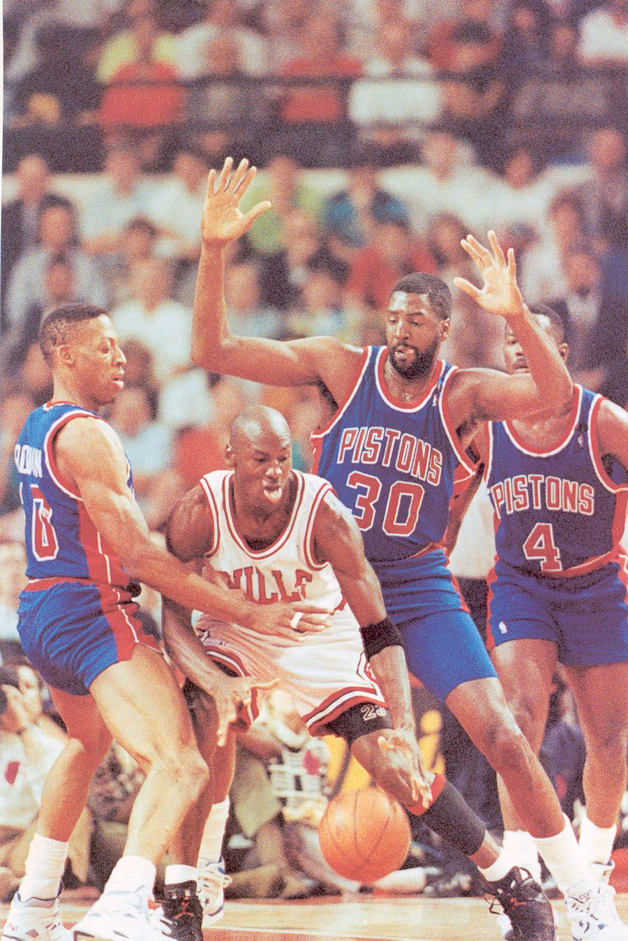 90 91 East Finals Pistons Rodman Tree Rollins Joe Dumars