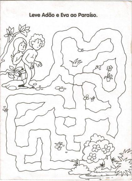 ad c3 a3o e eva labirinto jpg 422 576 ilustrações para aulas