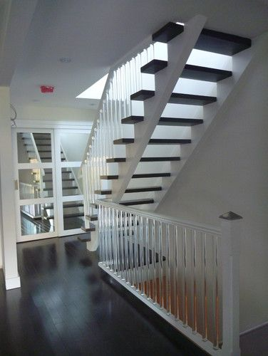 Manning Apartments Contemporary Staircase   Love The Acrylic Spindles