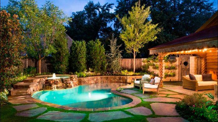 1001 ideas sobre dise o de jardines irresistibles y for Diseno de piscinas para casas de campo