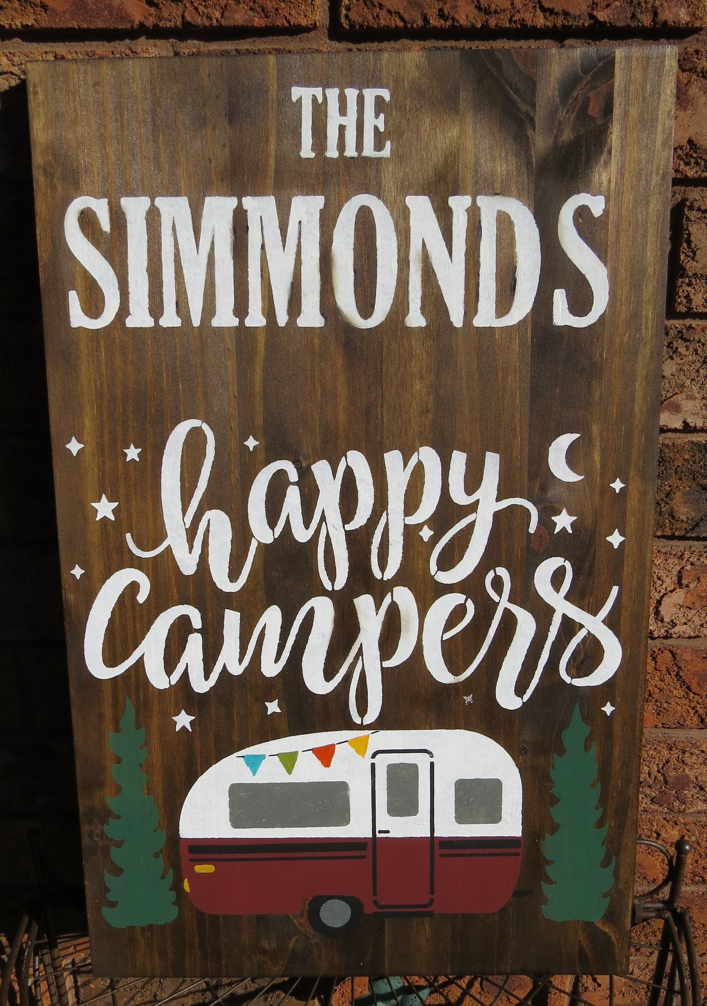 Happy Camper Sign Happy camper sign, Camper signs
