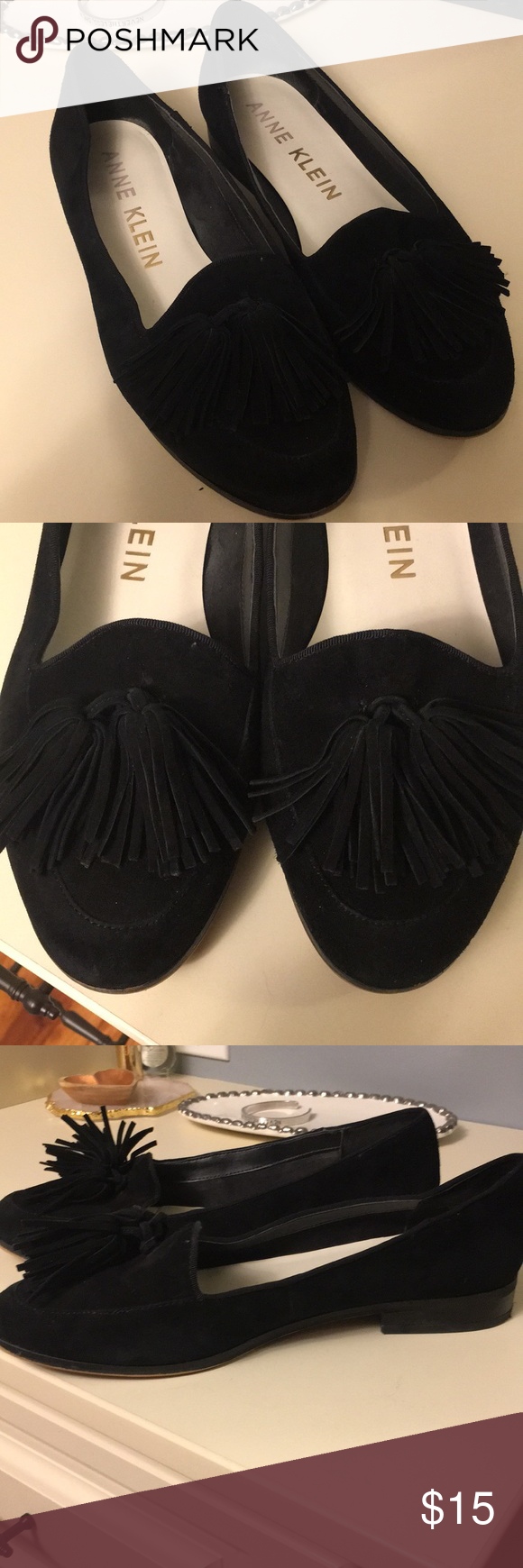 163fae5ffc5 Anne Klein Darcy loafer Black loafer with tassel Anne Klein Shoes Flats    Loafers