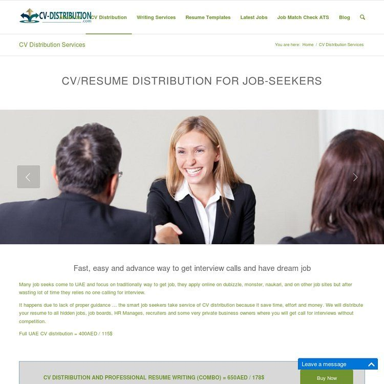What is a cv writing services