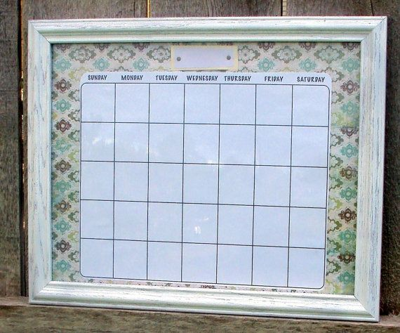 Frame Dry Erase Calendar Diy Dry Erase Calendar