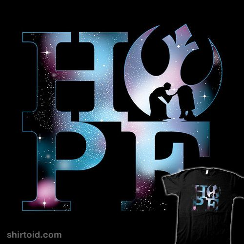 """""""HOPE"""" by InkOne A Star Wars design featuring Princess Leia and R2-D2"""