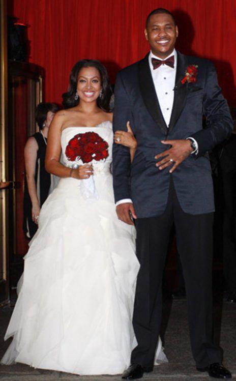 La Vasquez Carmelo Anthony Celebrity Wedding Dresses Photos Weddings