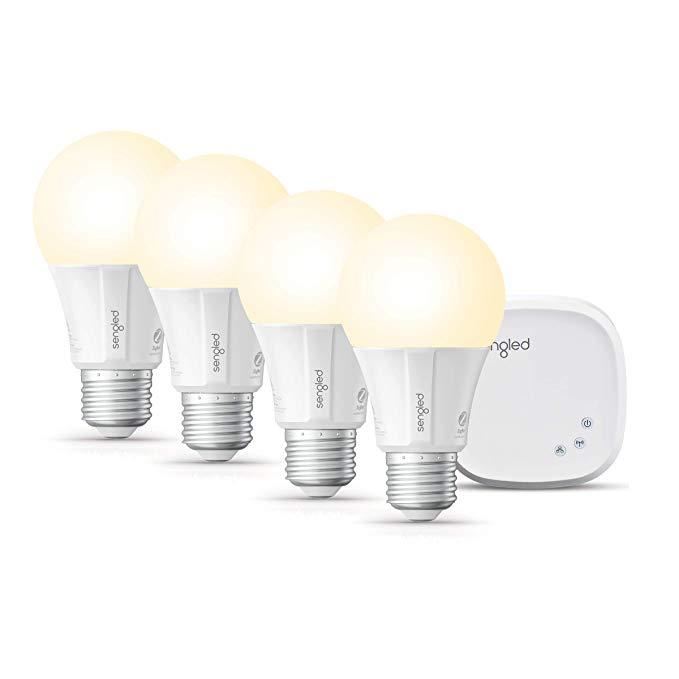 Sengled Smart LED Soft White A19 Starter Kit, 2700K 60W