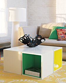 Modular Coffee Table DIY from the late Blueprint mag : storage cube coffee table  - Aquiesqueretaro.Com