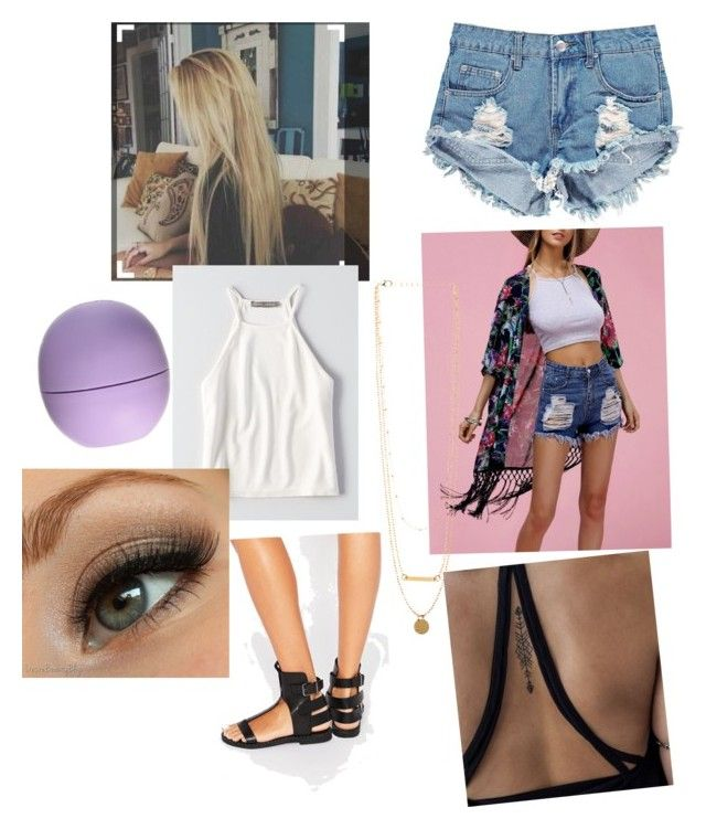 """""""Coachella look✌️"""" by hennaxx16 on Polyvore featuring Eos, Boohoo, American Eagle Outfitters and Sixtyseven"""