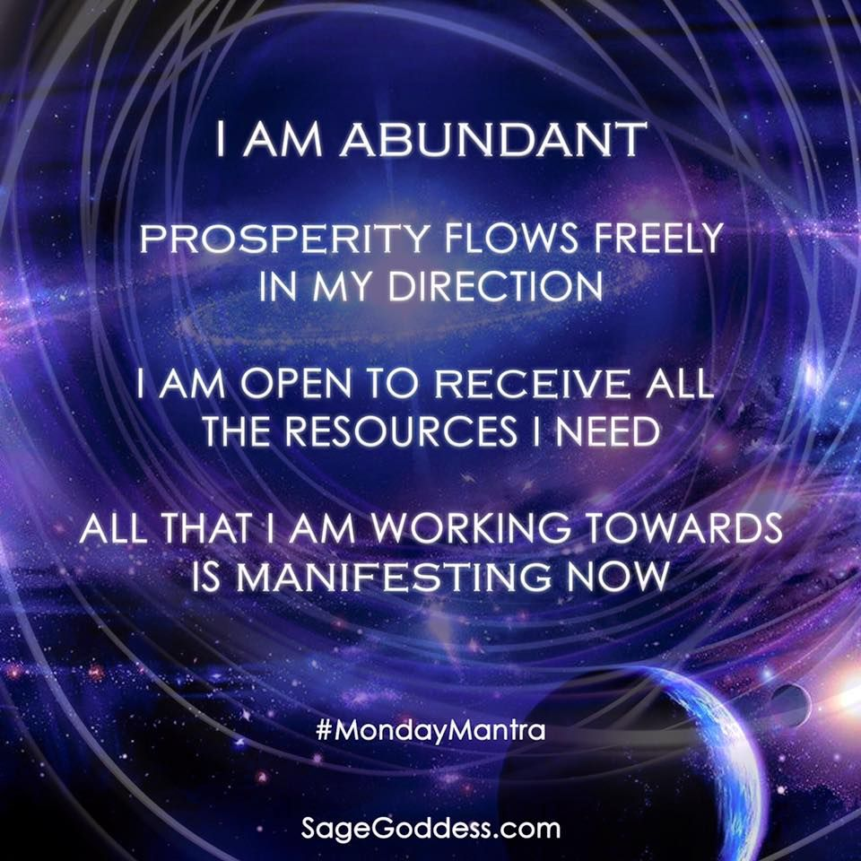 I Am Abundant Prosperity Flows Freely In My Direction I Am Open To Receive All The Resources I Need Prosperity Affirmations Manifestation Wealth Affirmations