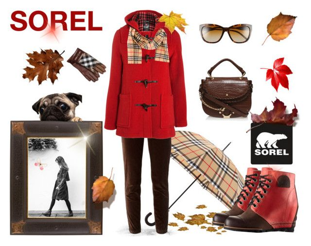 """The 1964 Premium Wedge from SOREL: Contest Entry"" by tanja-del-bello ❤ liked on Polyvore featuring SOREL, Burberry, Dolce&Gabbana, Gloverall, Carvela Kurt Geiger and sorelstyle"
