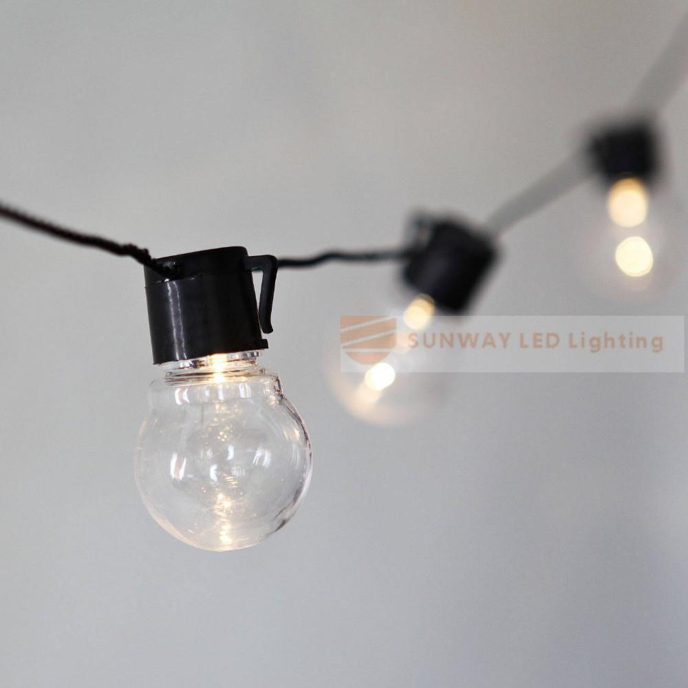 6M 20 Led Ball String Lights Clear Globe Bulbs Fairy Garland Lamp Garden