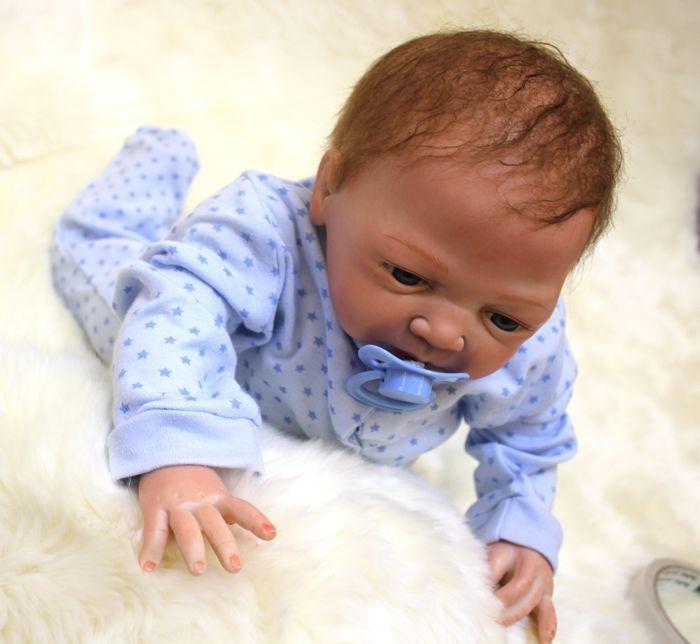 "46cm//18"" Handmade Reborn Baby Doll Girl Newborn Lifelike Soft Vinyl silicone"