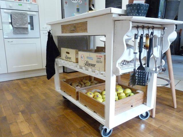 fabriquer une desserte de cuisine d coration pinterest desserte de cuisine desserte et. Black Bedroom Furniture Sets. Home Design Ideas