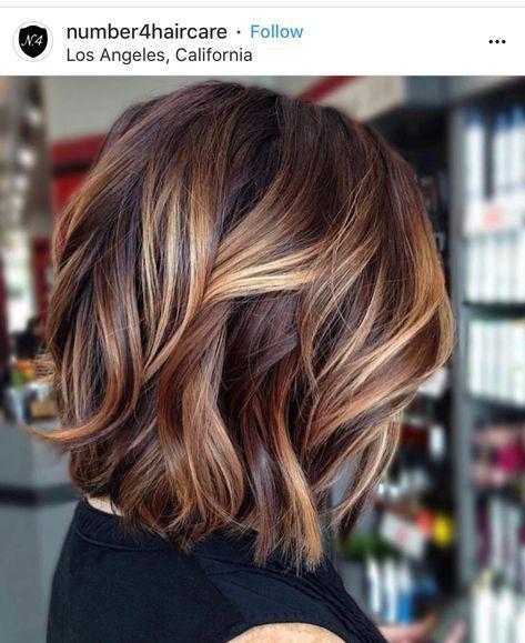 Idee di colore dei capelli per brune Tagli di capelli corti e divertenti 23+ nuove idee, #brunettes #Colore #C …