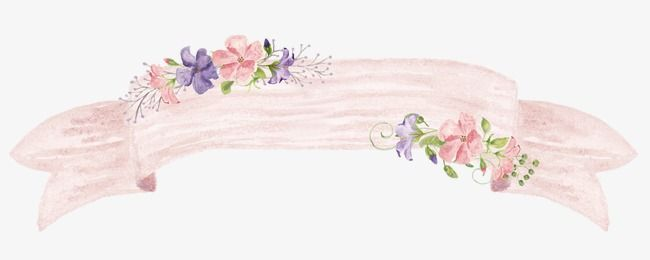 Art Flowers Border Watercolor Frame PNG Image