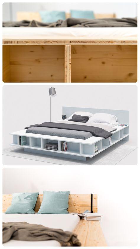 Bett Wilhelm selber bauen - Betten in 2019 | Einrichten ...