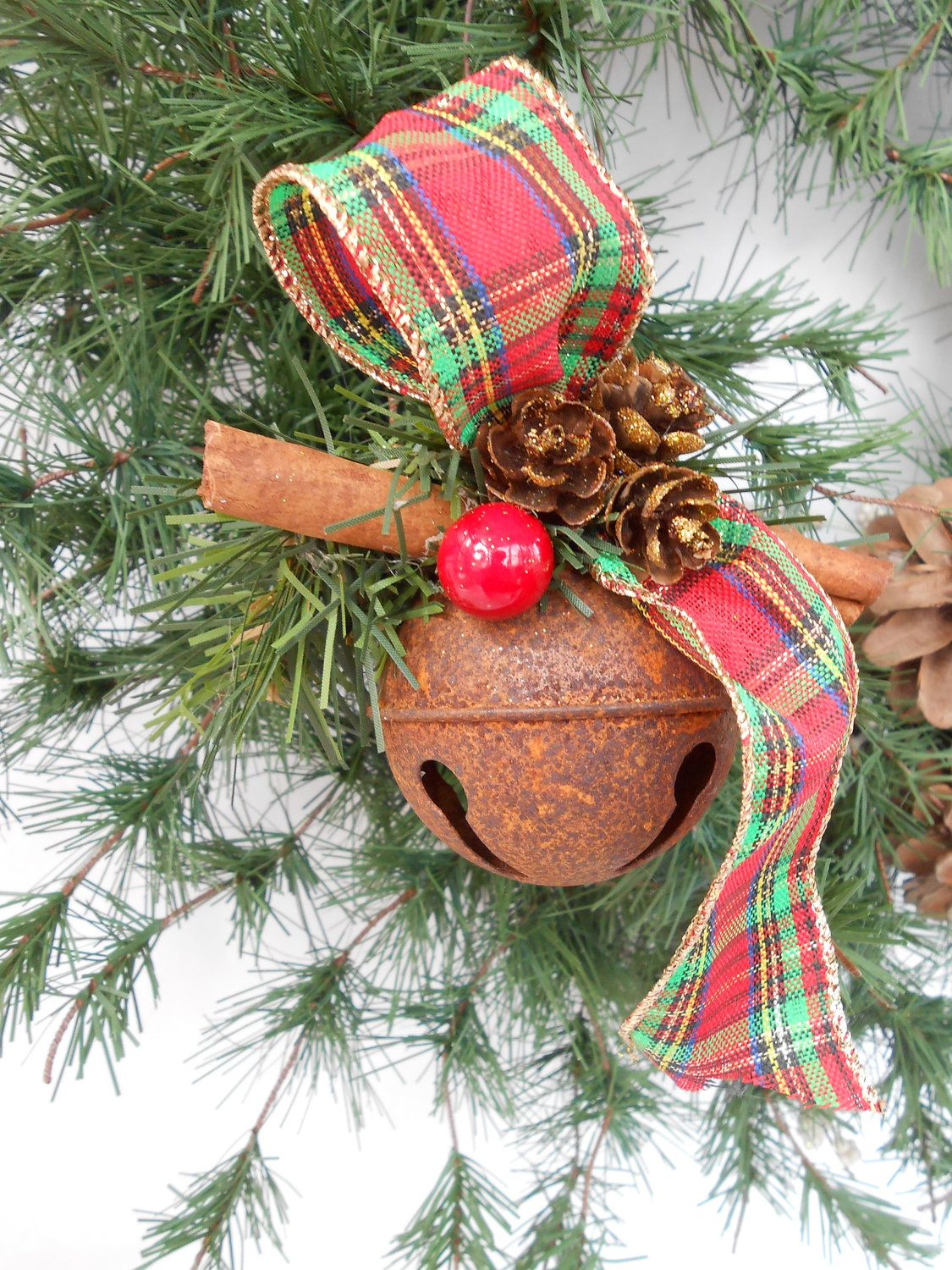 Country rustic jingle bell ornament use coupon code