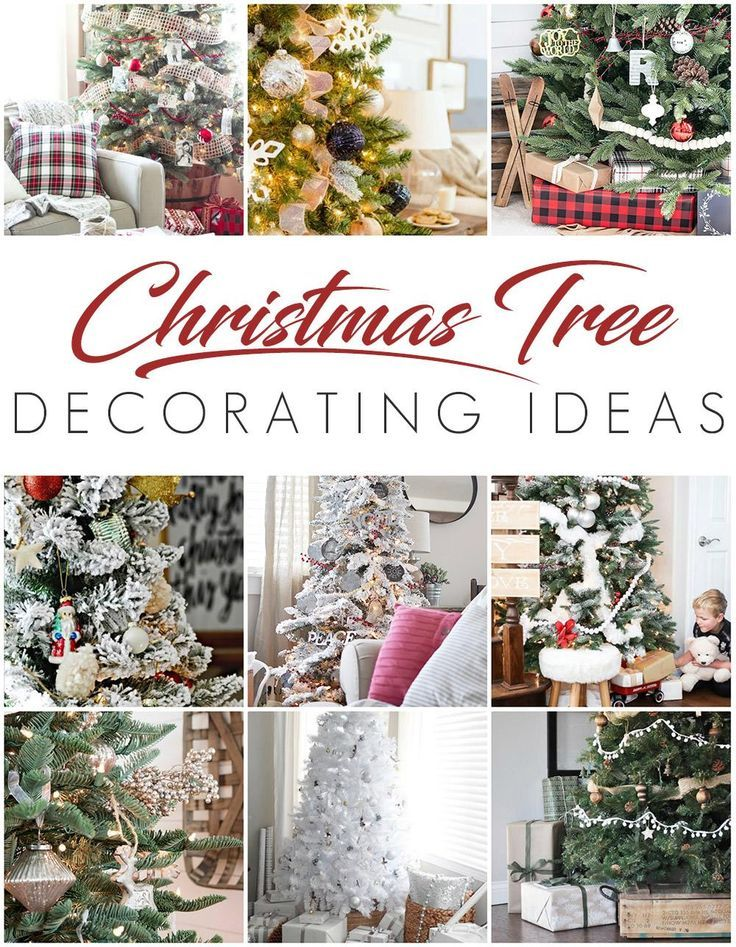 White Christmas Tree - Rustic Glam Style | Beautiful christmas trees ...