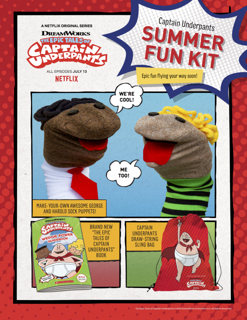 DreamWorks The Epic Tales of Captain Underpants premieres on
