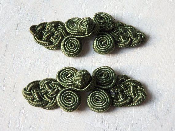 Chinesisch knot Knopfschnellverschlüsse  zwei Paar dunklen
