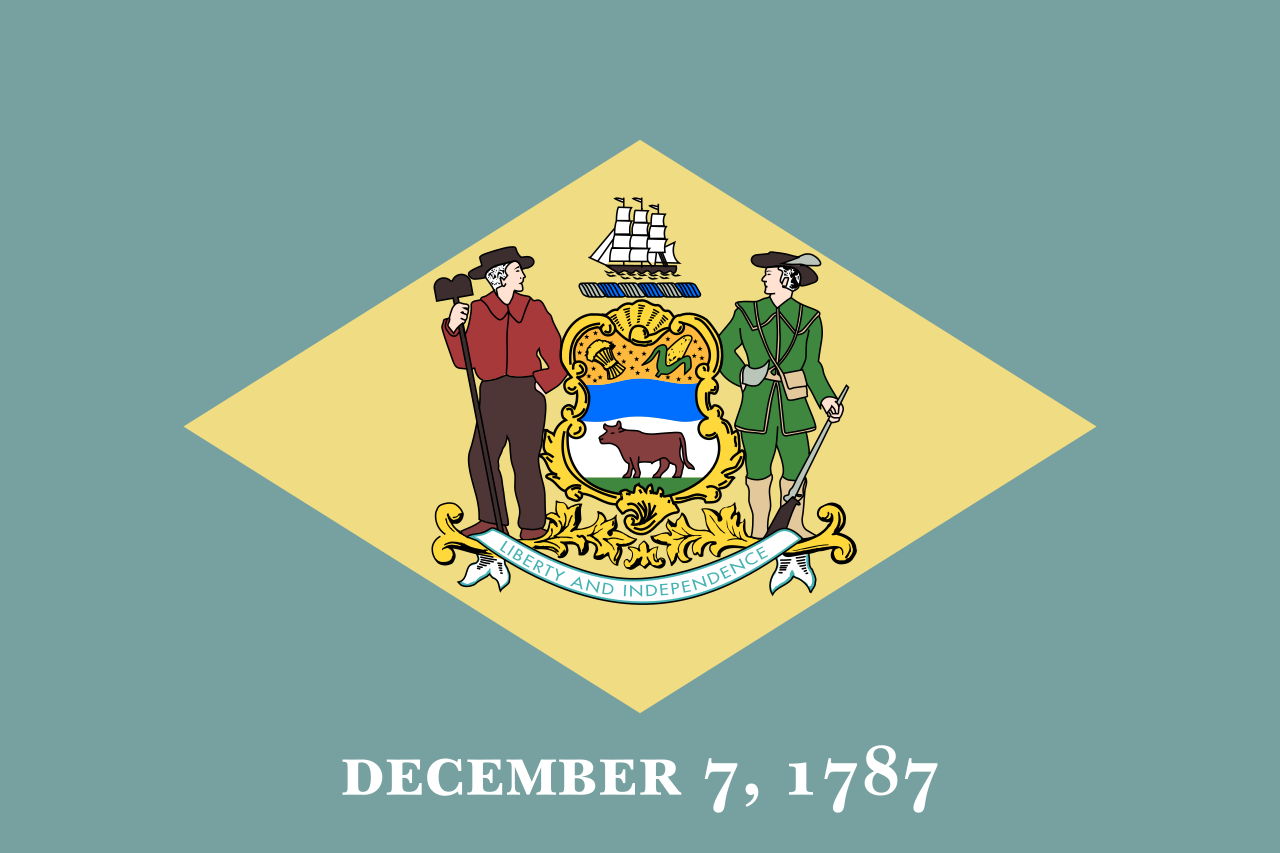 Flag Of Delaware Delaware Wikipedia In 2020 Delaware State Flag Delaware Flag Delaware State