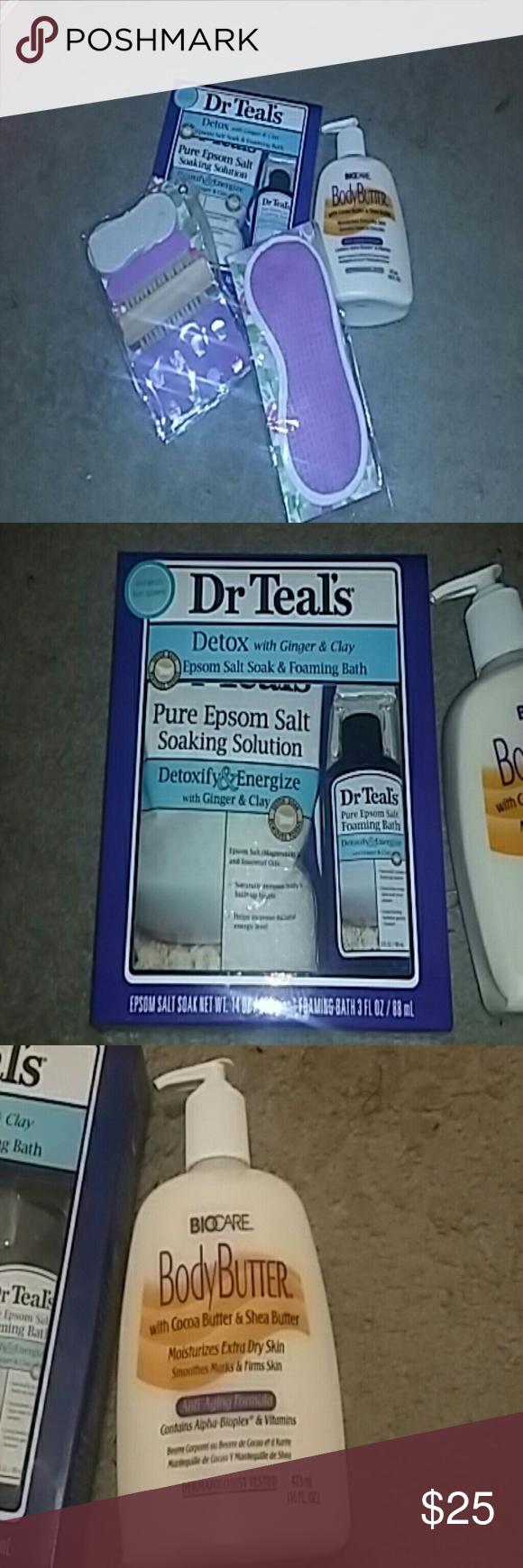 Spa day bundle. Bundle Includes the following: One eye mask. Pedicure kit. One body butter lotion. One Dr. Teal's detox Epsom salt and foaming    Great way to relax and have a spa day at home. Other