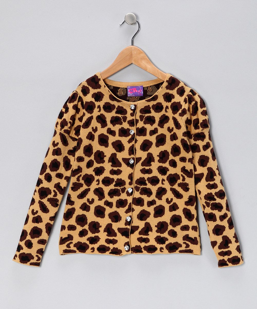 CR Kids Leopard Rhinestone Cardigan - Girls | Cardigans, Love and ...