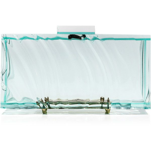 L'Afshar     Medium Amnis Clutch (7,595 CNY) ,  blue transparent purse and acrylic purse