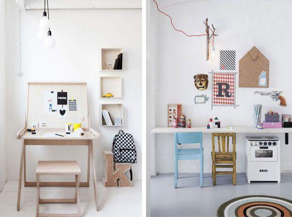 Bureau school kinderkamer slaapkamer kind jongen meisje interieur tafel stoel inspiratie tekenen - Slaapkamer jaar ...