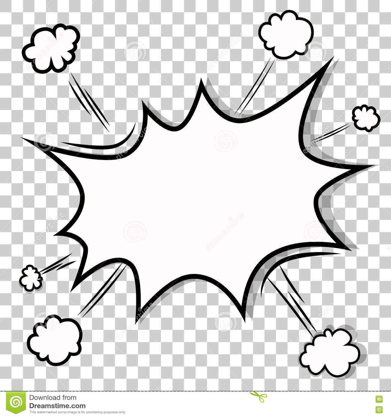 Transparent Template Boom Comic Book Explosion Bomb Isolated Free Coloring Pictures Pop Art Comic Heart Art Projects