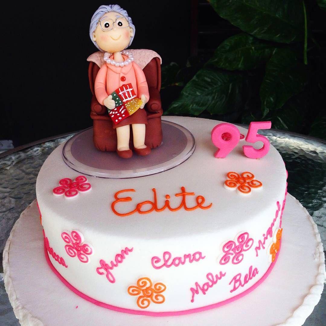 Bolo da comemoração de Edite. Parabéns!