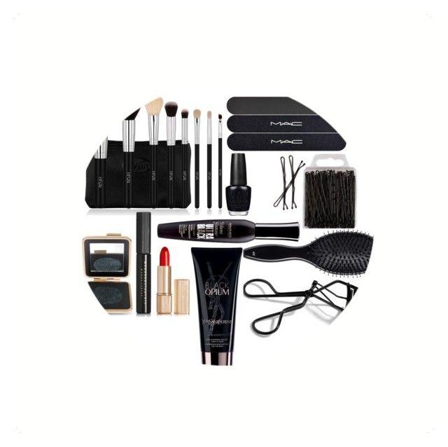"""Ultra black"" by aldo-ii on Polyvore featuring moda, MAC Cosmetics, Bobbi Brown Cosmetics, H&M, Bourjois, Yves Saint Laurent, OPI y Estée Lauder"