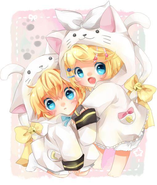 Anime Manga, El Anime Chibi, Arte Del Anime, Kawaii, Dos, Fondos De  Pantalla, Vocaloid Len, Anime Animals, Chibi Anime