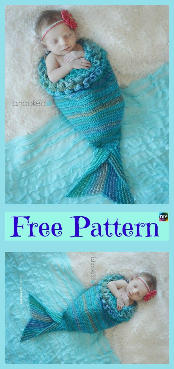 Free Crochet Pattern For Baby Mermaid Cocoon Amazing Inspiration Design