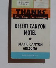 1950s Matchbook Desert Canyon Motel Boy Dog Black Canyon AZ Yavapai Co Arizona
