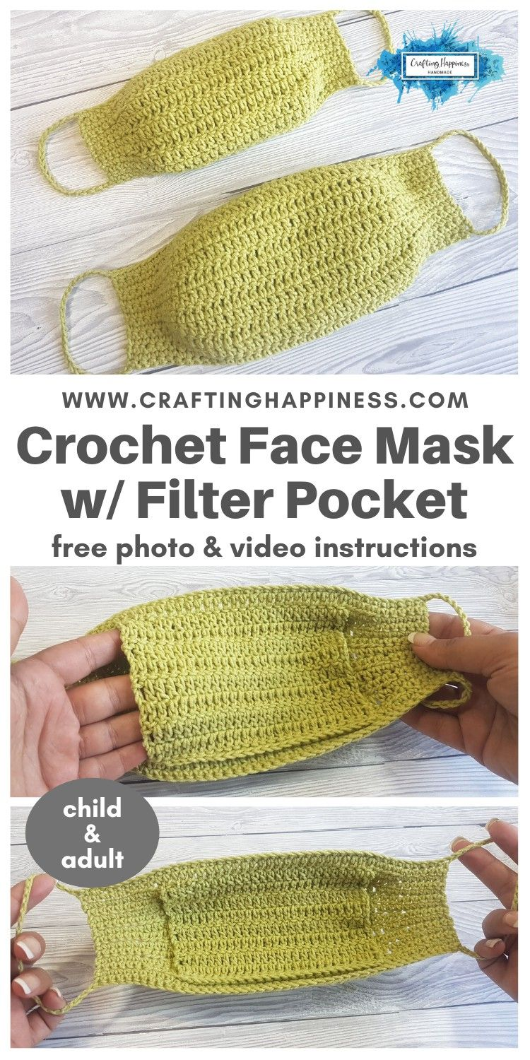 Photo of Super quick & easy crochet face mask w/ filter pocket pattern you can make in un…