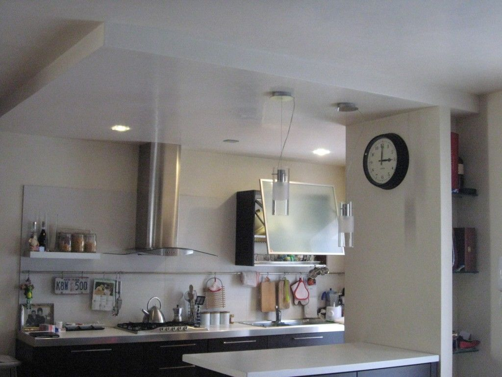 Opere in cartongesso controsoffitto cucina e nicchia - Controsoffitti in cartongesso cucina ...