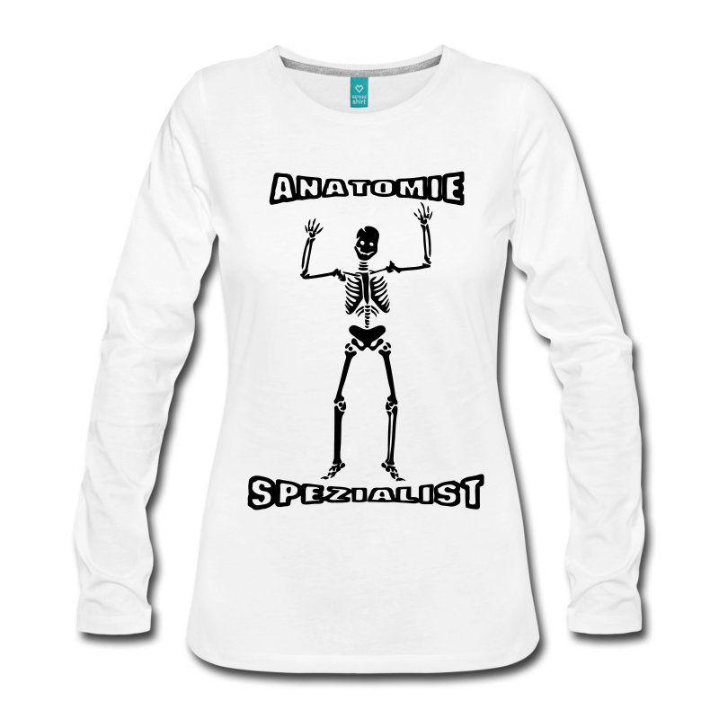 Anatomie Spezialist Frauen Premium Langarmshirt - Weiß