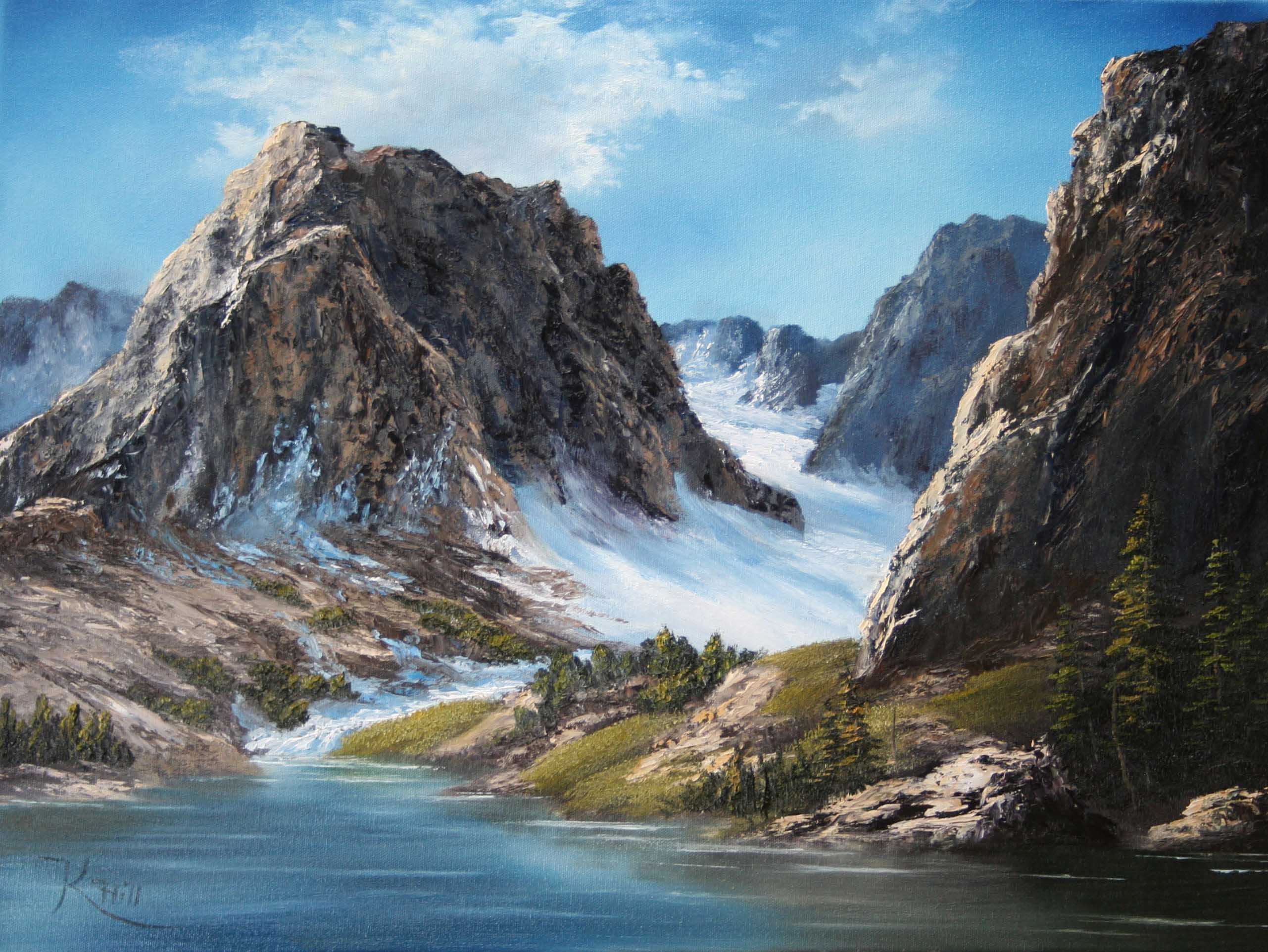 Mountain Pass By Kevin Hill Paintwithkevin Com Kevin Hill Paintings Landscape Paintings Cool Landscapes