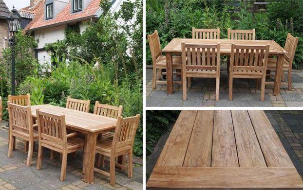 Teak Garden Tables Autumn