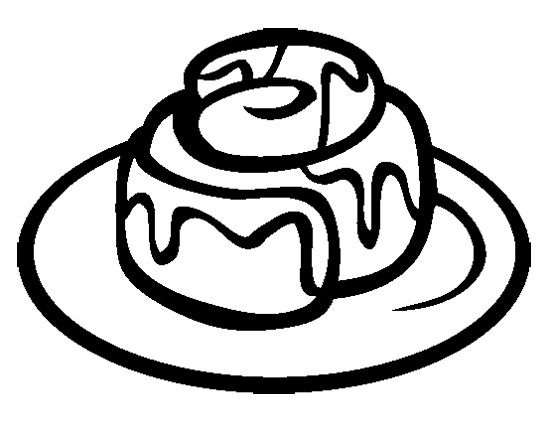 Cinnamon Roll Coloring Page