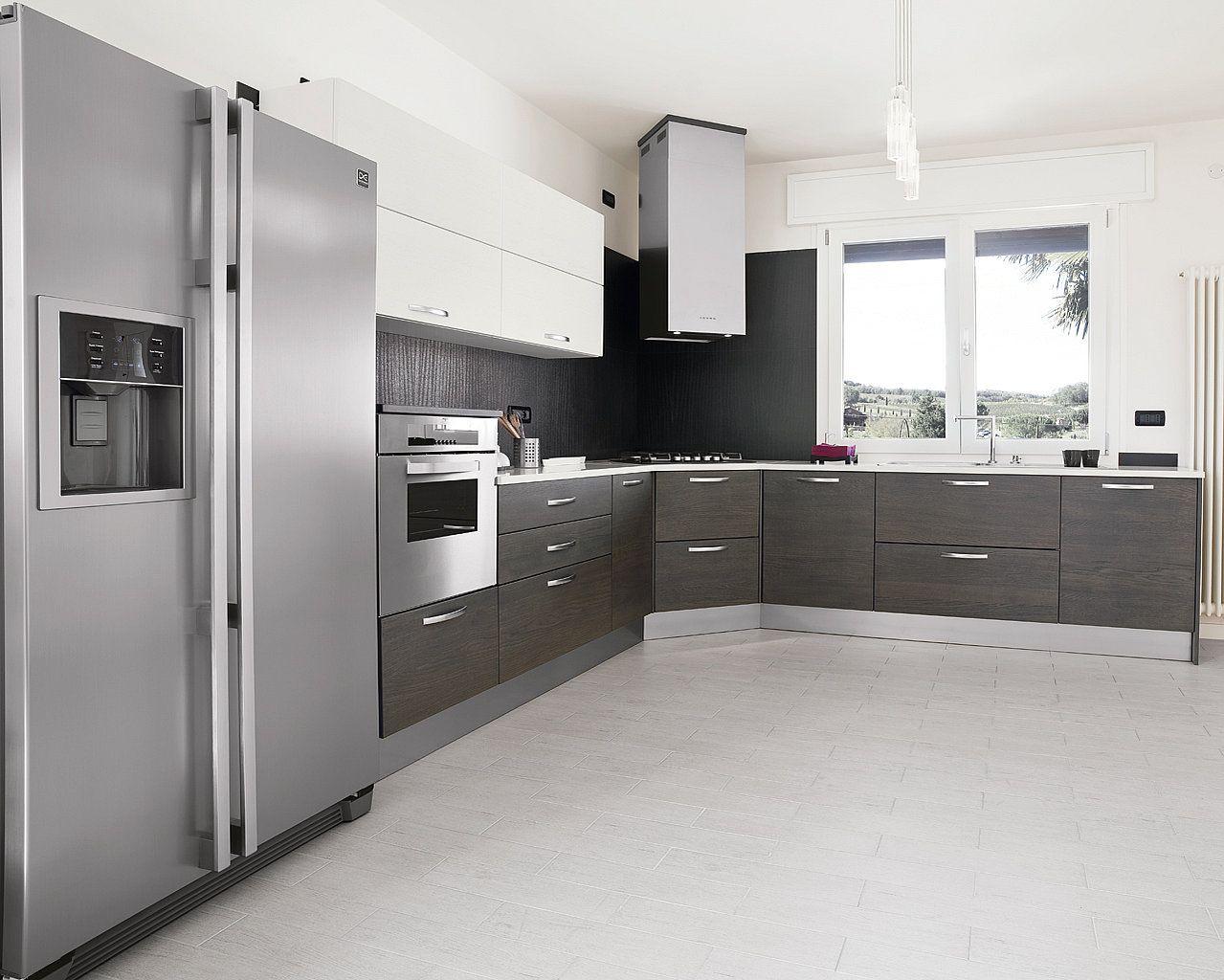Estilo de cocinas modernas con tope de madera buscar con for Cocinas en u modernas