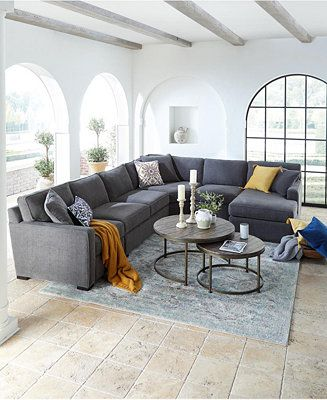 Amazing Furniture Radley Fabric Sectional Sofa Collection Created Ocoug Best Dining Table And Chair Ideas Images Ocougorg