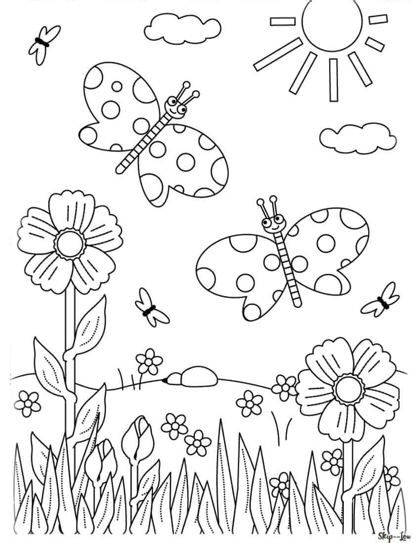 Flower Coloring Pages in 2020 Coloring pages, Owl