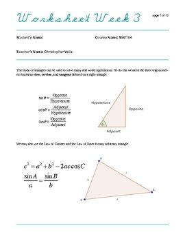 Trigonometry | Trigonometry | Pinterest | Trigonometry and Worksheets