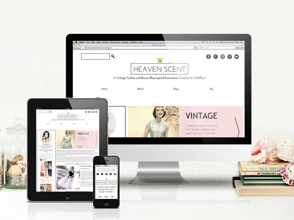 Heaven Scent Template | Templates for Serif WebPlus (c) | Pinterest ...