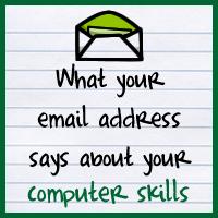 Lo que tu dirección de correo electrónico dice sobre tus habilidades técnicas