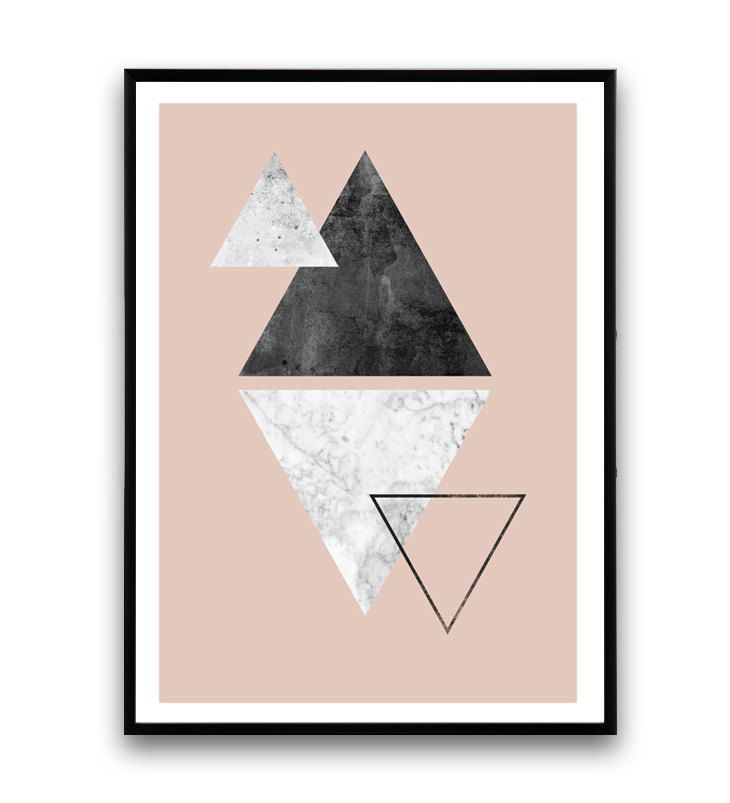triangle imprim marbre sticker imprim rose design par wallzilla art pinterest imprim. Black Bedroom Furniture Sets. Home Design Ideas